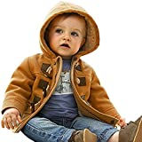 ARAUS-Baby Jungen Mantel Winter Jacke Kinder Kapuze Winterjacke Steppjacke Fleecejacke Duffle Outerwear Trenchcoat Orange 140