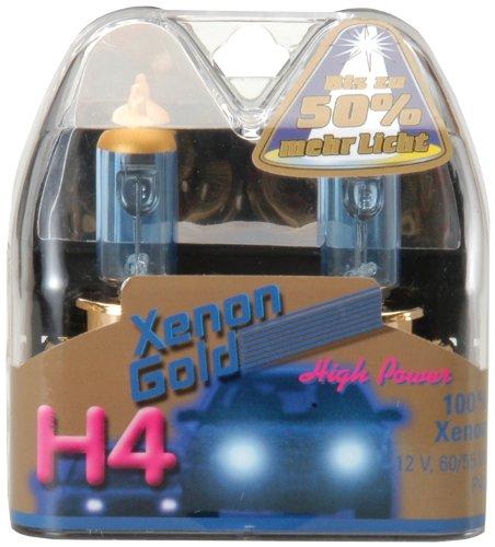 Preisvergleich Produktbild Unitec 77766 Hauptscheinwerferlampen H4 Xenon Gold 12V 60/55W, 2er-Set