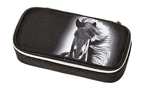Schneiders Vienna 49011 080 Schlamperetui Dream Horse, ca. 21 x 10 x 6 cm, schwarz
