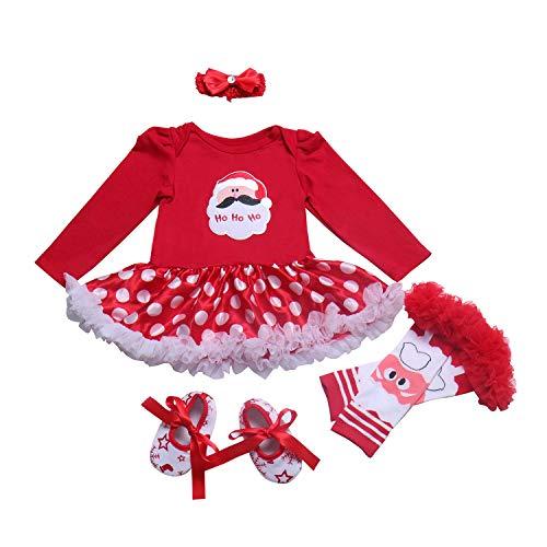 BabyPreg Baby Mädchen Mein erstes Weihnachten Sankt Kostüm-Partei-Kleid -