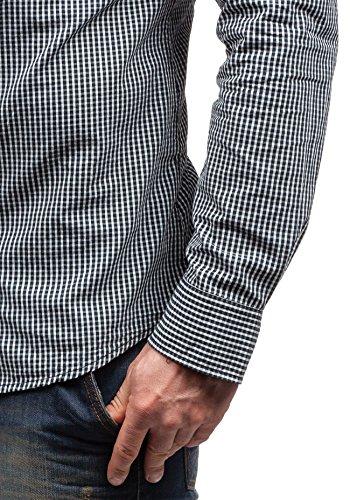 BOLF - Chemise casual – avec manches longues - à carreaux –GLO STORY 8178– Homme Noir