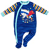 Lily & Jack - Baby Jungen Schlafstrampler Schlafanzug aus Nicki Gr. 56/62 (0/3M)