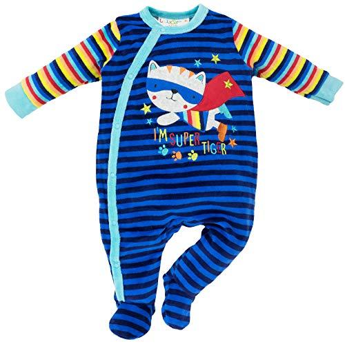 Lily & Jack - Baby Jungen Schlafstrampler Schlafanzug aus Nicki, Mehrfarbig, 62/68 (3-6M)