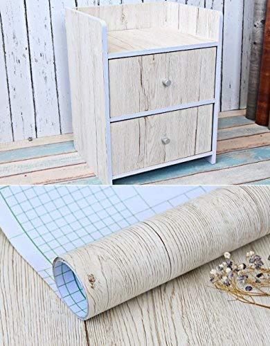 (Weiß Ahorn Holz Getreide Kontakt Papier Vinyl selbstklebend Regal Schublade Liner für Badezimmer Küche Schränke Regale Kunst und Handwerk Aufkleber 61x 297,2cm)
