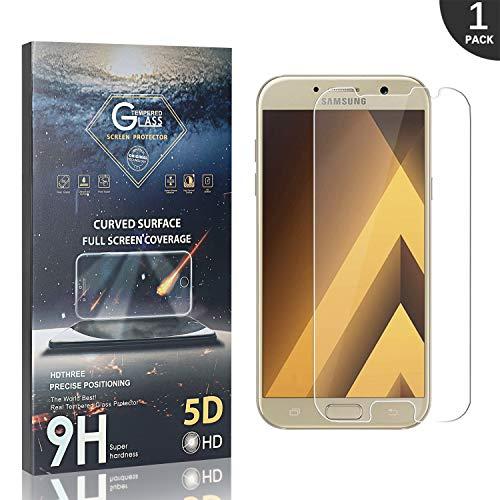 GIMTON Vetro Temperato per Samsung Galaxy A3 2017, 9H Antiurto Pellicola Protettiva in Vetro Temperato, Facile da Pulire, Alta Definizione, 1 Pezzi