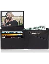 Cartera Hombre Rfid Cuero Billetera Tarjetas Crédito con Ventana ID