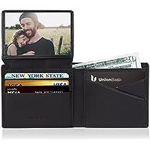 Cartera Hombre Grandes RFID Monedero Cureo Piel Billeteras