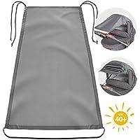 Zamboo Toldo / Protección solar universal para cochecitos, capazos y sillas de paseo | Parasol flexible con protección UV 50+ y función de persiana enrollable - Gris
