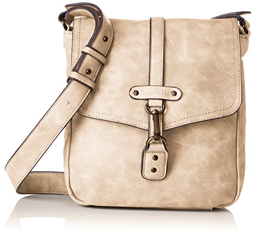 Tamaris Damen Bernadette Crossbody Bag M Umhängetasche, Beige (Pepper), 7x26x22 cm (Bag Hardware City)