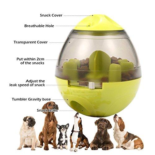 ALAMP Hundespielzeug Ball Interaktives Hundespielball Leckerli-Spender Snackball gegen Langeweile für Hunde und Welpen - 4
