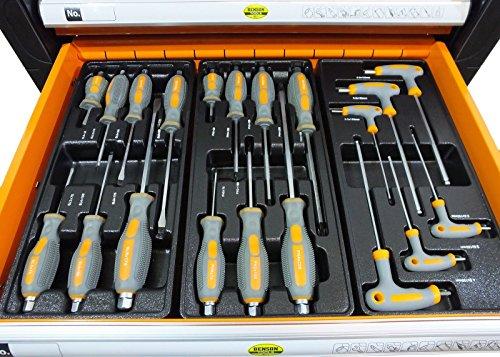 Werkstattwagen gefüllt mit Werkzeug! Werkzeugschrank Werkzeugwagen Werkzeugkiste - 3
