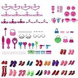 Best Barbie Toys Anniversaire - 100PCS Chaussures Différentes Barbie Accessoires Collier Miroir De Review