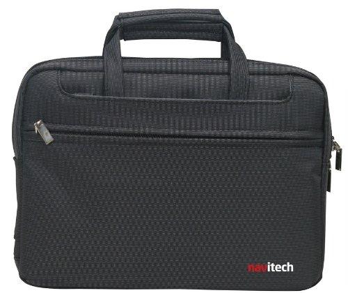 Navitech Premium schlichte schwarze, Wasser- und Schlag-feste Laptop/Netbook/Notebook Tragetasche für 10,2 bis 12,1 Zoll (26 - 30,5 cm) Seashell Netbook-computer