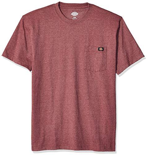 Dickies Herren Short Sleeve Heavyweight Heathered Crew Neck Tee T-Shirt, Burgundy Single Dye Heather, Mittel