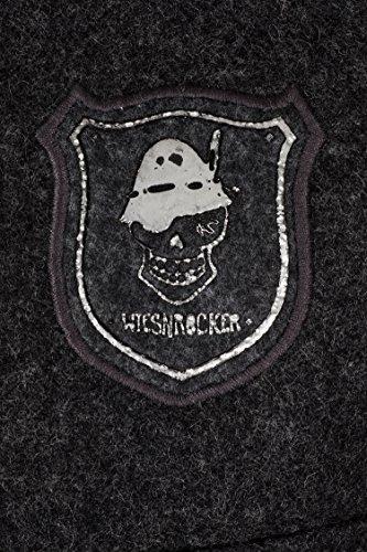 WIESNROCKER Trachtenweste für Herren in dunkel-grau I modern & rockig I Gilet mit vielen Details I hochwertige Verarbeitung I Größe M - 4