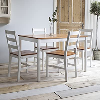 Wooden Dining table and 4 chairs set produced by Honey Badger Global Ltd. - quick delivery from UK.
