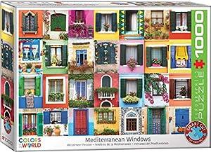 EuroGraphics 6000-5350 Rompecabezas de 1000 Piezas con Ventanas mediterráneas