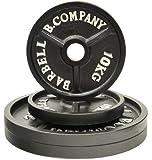 Bad Company Profi Olympia Hantelscheiben Guss 50/51mm Set - 2x10, 2x20 Kg Hantelscheiben