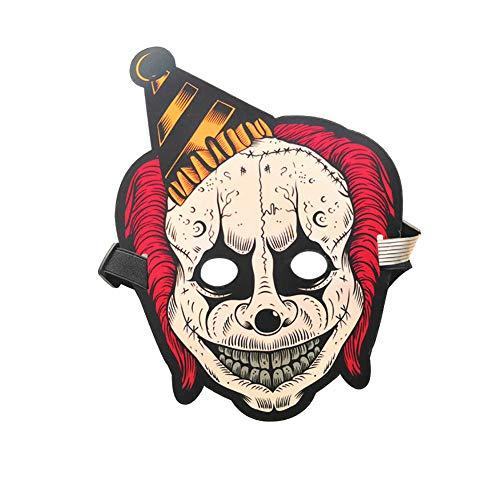 AchidistviQ Halloween-Clown-Maske für Kostüm, Tanz, Rave Party, Konzert, Cosplay 18#