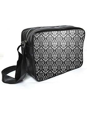 Snoogg Abstraktes Grau Muster 1Leder Unisex Messenger Bag für College Schule täglichen Gebrauch Tasche Material PU