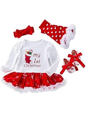 WAFA Infant Baby Mädchen Weihnachten Kostüm Stirnband Outfit anziehen