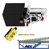 Autovictoria Bomba Hidraulica De Doble Efecto Bomba Hidraulica 12V Dump Trailer 4L Reservoir Controlado Remotamente (4L )