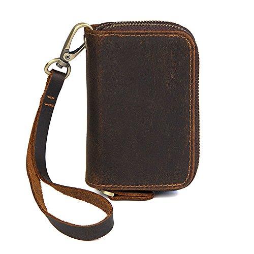 MeiliYH Herren Leder Schlüsseletui Casual Vintage-Karten-Etui Stylisches Mini-Leder Schlüsseletui für Männer (Schlüsselkasten Herren Geldbörse)
