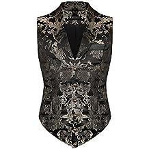 Devil Fashion Herren Aristocrat Weste schwarz gold Brokat Gothic Steampunk