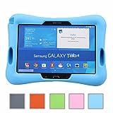 NEWSTYLE Samsung Galaxy Tab 4 10.1 Kinderfreundliche Silikon Hülle Schutzhülle Tasche Case für Samsung Tab 4 SM-T530/T531/T535 (10,1 Zoll) - Blau für NEWSTYLE Samsung Galaxy Tab 4 10.1 Kinderfreundliche Silikon Hülle Schutzhülle Tasche Case für Samsung Tab 4 SM-T530/T531/T535 (10,1 Zoll) - Blau