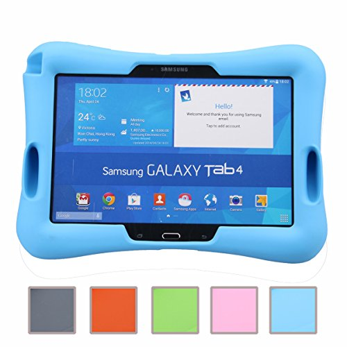 galaxy tab t530 NEWSTYLE Samsung Galaxy Tab 4 10.1 Kinderfreundliche Silikon Hülle Schutzhülle Tasche Case für Samsung Tab 4 SM-T530/T531/T535 (10,1 Zoll) - Blau