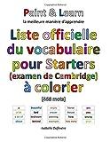 Telecharger Livres Liste officielle du vocabulaire pour Starters examen de Cambridge (PDF,EPUB,MOBI) gratuits en Francaise