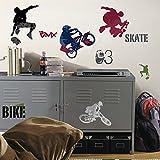 Bavaria Home Style Collection Hochwertiger Wandtattoo Tattoo Wand Tattoo Extremsport Skateboard BMX künstlerisch mit außergewöhnlichem Design Macht die Wand zu Einen Echten Blickfang