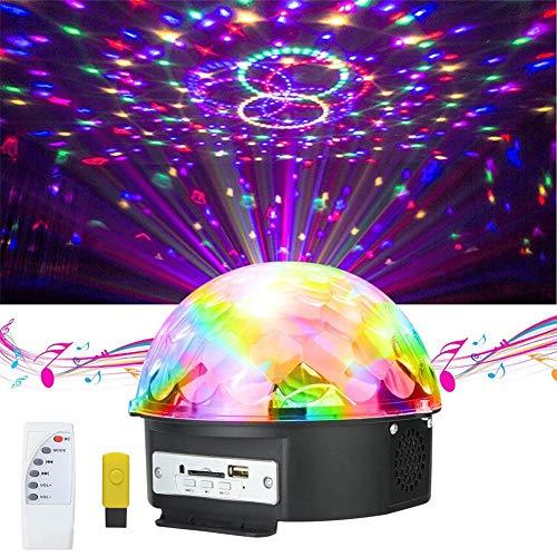 Discokugeln Ball Party Lichter LED-Bühnenbeleuchtung Crystal Magic Ball Lampe MP3 mit Fernbedienung Für Kindergeburtstag Xmas Hochzeits Show DJ Club Mp3 Crystal