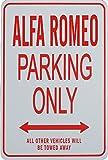ALFA ROMEO Solo parcheggio - parcheggio segni in miniatura regalo ideale per gli appassionati di automobilismo