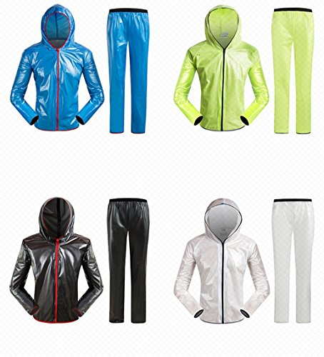 Monter une pluie Raincoat Mountain Bike Alpinisme de Split Raincoat Pants Set Homme Femme Scholar Adulte Windbreaker Outdoor Sport Jacket Waterproof ( couleur : N ° 3 , taille : Xl ) N ° 4