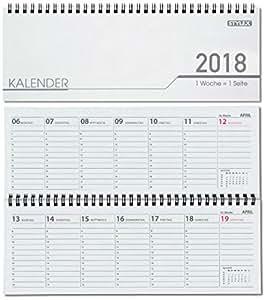 stylex schreibtisch querkalender 2018 32 blatt 1woche