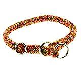 Dinoleine Hunde-Halsband/Stoppwürger, Größenverstellbar, Polyester, Größe: XS/ 35 cm, Regenbogen, 240813
