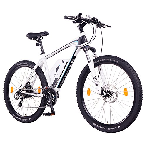 "NCM Prague+ E-Bike Mountainbike, 250W, 36V 14Ah 504Wh Akku, 26""/27,5\"" (Weiß+ 27,5\"")"