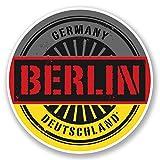 2 x 15cm/150 mm Berlín Alemania Deutschland Etiqueta autoadhesiva de vinilo adhesivo portátil de viaje equipaje signo coche divertido #6027