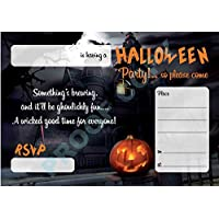HALLOWEEN #62 pumpkin INVITATIONS childrens kids party invites Pack of 10 inc. envelopes