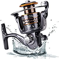 Plusinno® Pesca Spinning Carretes Agua dulce Agua salada con 5,2: 1 Relación de Metal Gear Cuerpo Izquierda / derecha intercambiable Carrete manija plegable (Carrete de pesca)