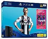 PS4 Pro 1 To B - noir + FIFA 19 - Standard Edition + PS Plus Voucher 14 Jours