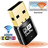 EkoBuy® AC600 Mini Dual Band Wireless USB Adapter Dongle , 5GHz and 2.4