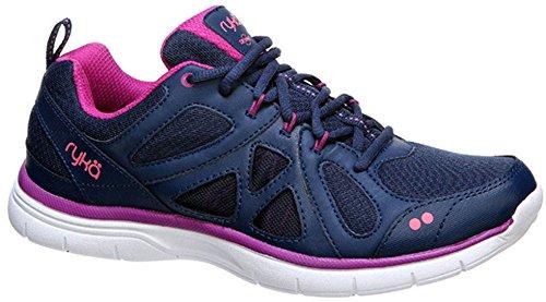 Ryka Womens Divine Training Shoe Insignia Blue/Vivid Berry/Calypso Coral
