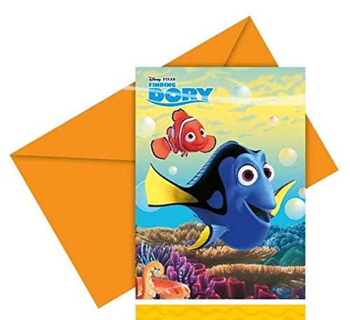 dungskarten inkl.Umschlägen (Findet Nemo Geburtstags-dekorationen)