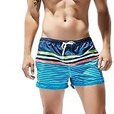 Oyedens Uomo Costume da Bagno Boxershorts, Mare Piscina Sport Slip Tronchi di Nuoto Pantaloncini Calzoncini Mutande, con Il Drawstring Regolabile Dentro & Le Tasche