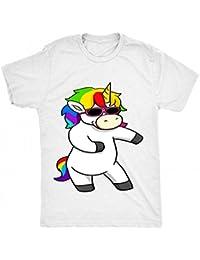 8TN Floss Unicorn - Funny Dance Hip Hop Dab Mixte Enfant T Shirt