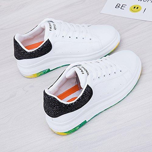 Wuyulunbi@ Molla scarpe bianco Bianco e nero