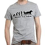 Siviwonder Pferd Evolution TRABRENNEN Trabrennsport Pferdewetten - Reiten Pferde - Unisex T-Shirt Shirt Sports Grey L