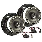 tomzz Audio 4057-004 Lautsprecher Einbau-Set passend für VW Golf 5 V Passat 3C Touran Caddy Tür vorne 165mm Koaxial System TA16.5-Pro